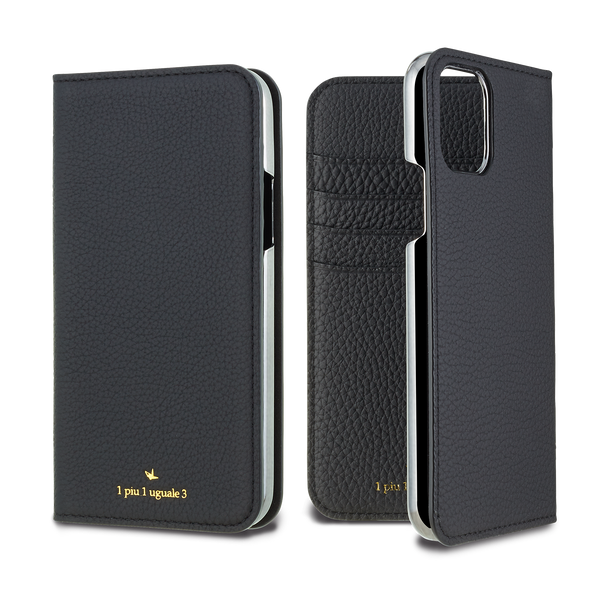 German Shrunken Calf Folio Case for iPhone 11/11 Pro/11 Pro Max <1piu1uguale3>