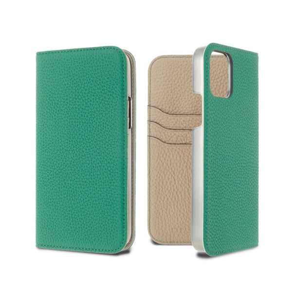 German Shrunken Calf Folio Case for iPhone 12 mini