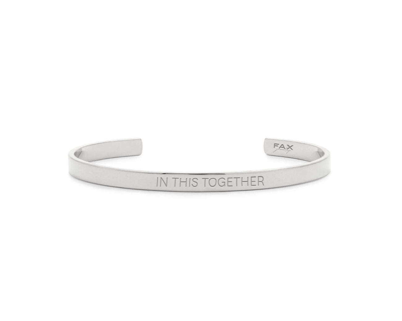 FAX Jewlery | In This Together Cuff Bracelet | Stainless Steel | COVID-19 Fundraiser