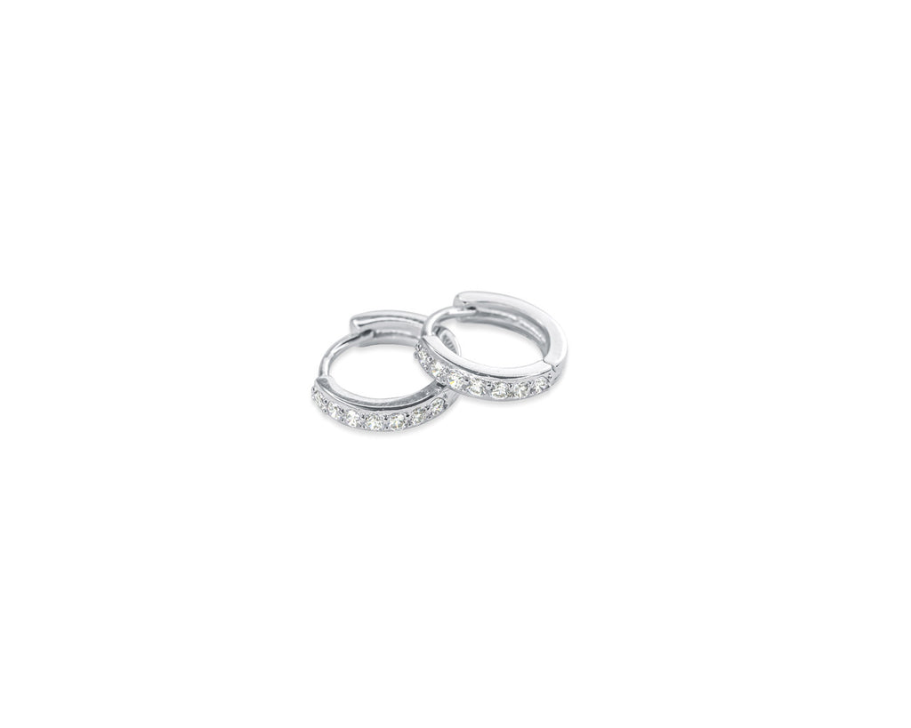 FAX jewelry | Dazzle Me | Sterling Silver Mini Hoop Earrings