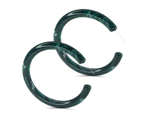 FAX Jewelry | Green With Envy | Acrylic Hoop Earrings