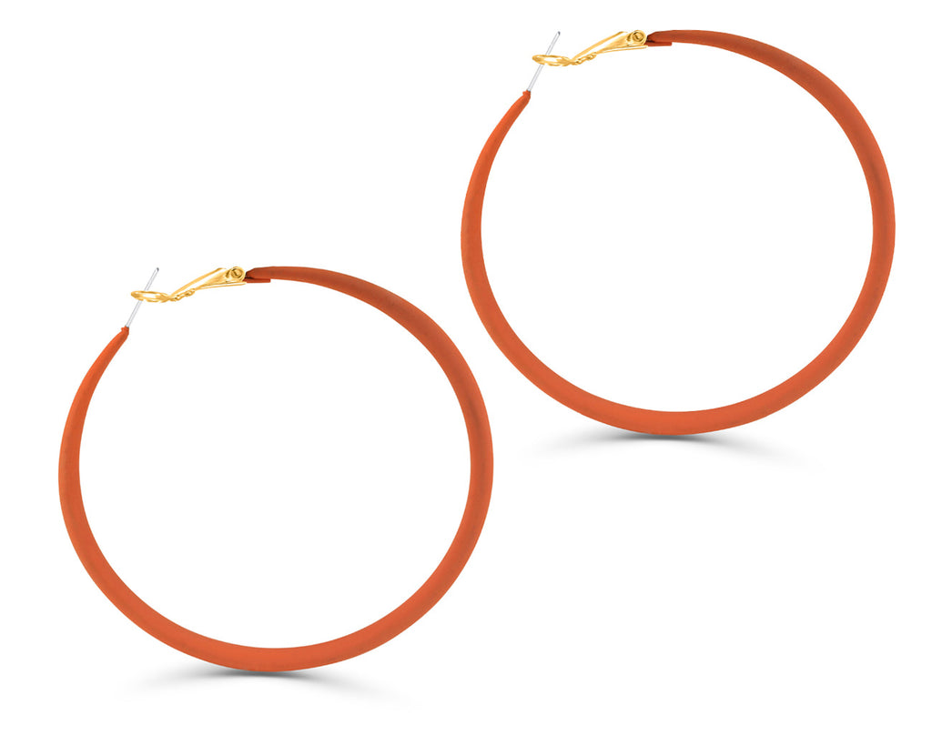 FAX Jewelry 'Orange Crush' Oversized Hoop Earrings