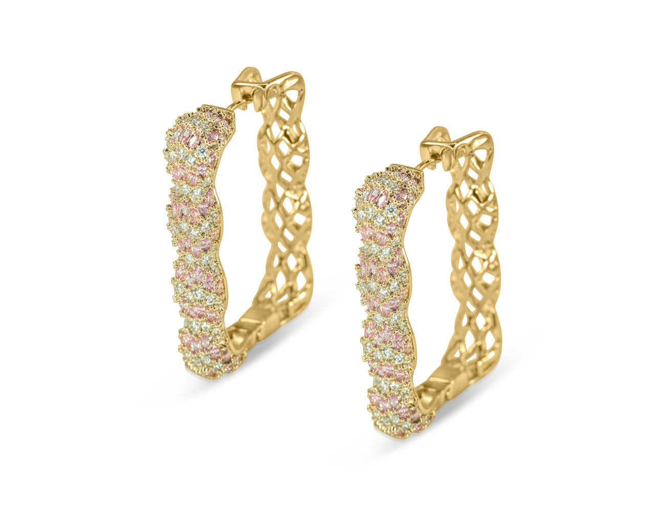FAX Jewelry | 'Rose Box' Large Gold Hoop Earrings