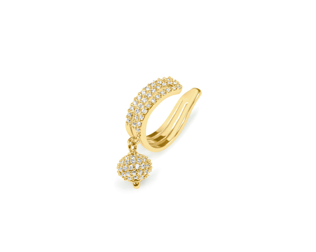FAX Jewelry | 'Glass Slipper' Gold Plated Ear Cuff