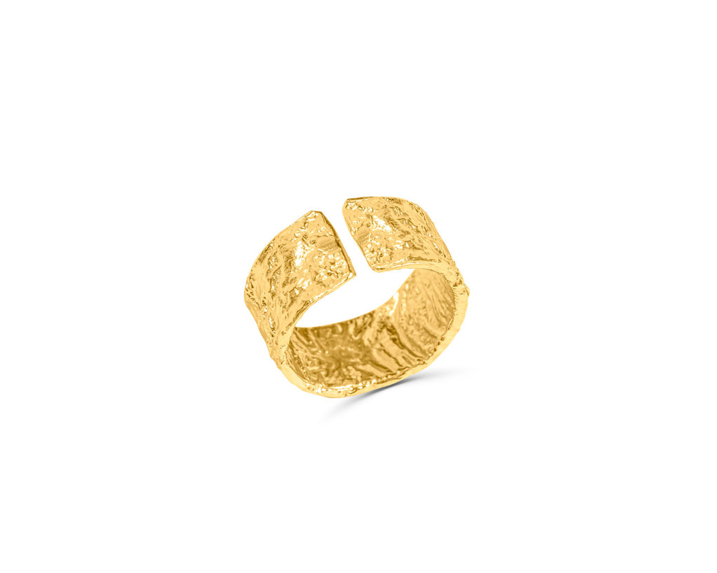 FAX Jewelry 'Rock Solid Love' Adjustable Gold Band Ring
