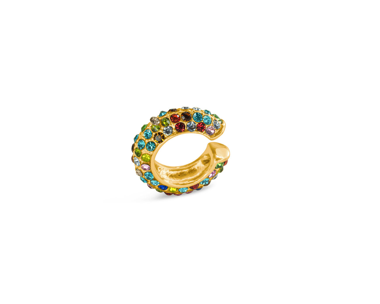 FAX Jewelry | Shine Bright | Rainbow and Gold Ear Cuff