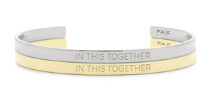 Unisex 'IN THIS TOGETHER' Cuff Bracelet 18K Gold
