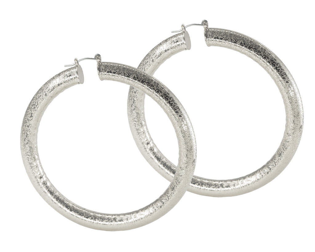 FAX Jewelry | Hoop Dreams Silver Oversized Hoop Earrings