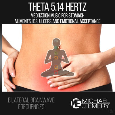 Theta 5.14 Hertz Meditation Music for Stomach Ailments, IBS, Ulcers and Emotional Acceptance