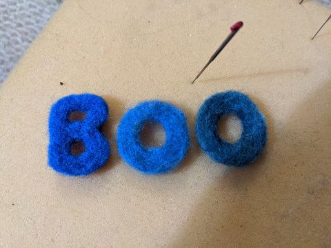 Felted Letters