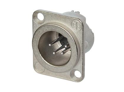 Neutrik - NC4MD-LX - 4 pole male receptacle, solder cups, Nickel housing, silver contacts.