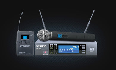 Pasgao - Wireless Mic System With Belt Pack and 1 x Handheld Mic