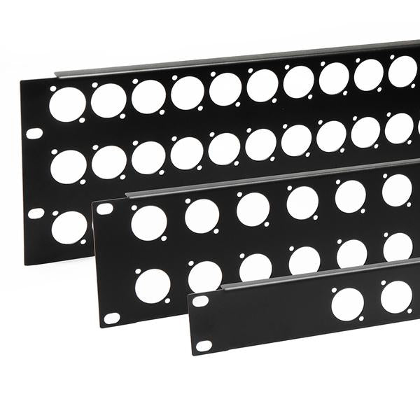 Penn Elcom - R1269/2UK/32 - Punched Panel for 32 x D-Series Connectors