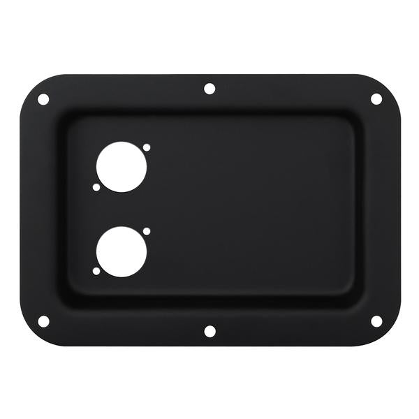 Penn Elcom - D023K - Dish Punched for 2 x D-Series Connectors - Black