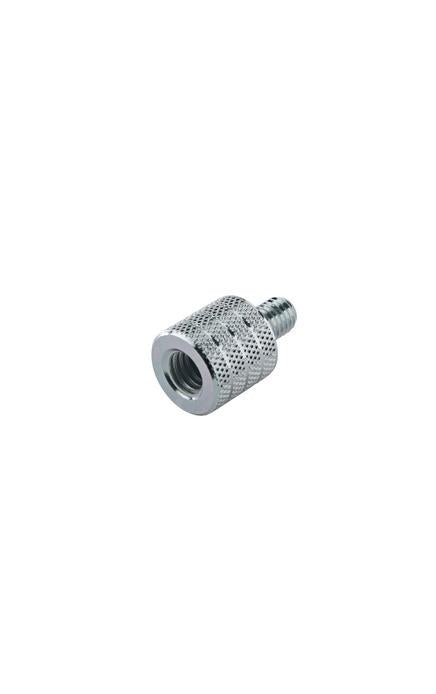 "K&M - 21918-000-29 - Thread Adapter - 3/8"" Female To M8 X 12 Mm Male. With 18 Mm External Diameter."