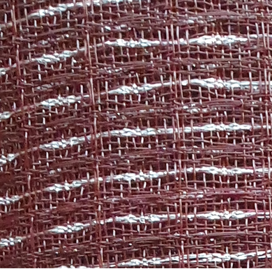 Grill Cloth - Oxblood Red/Silver - Fender Type.