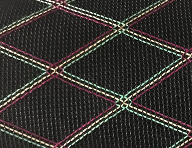 Grill Cloth - Black With Diamond Pattern - Vox Type.