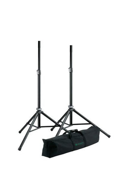 K&M - 21449-000-55 - Speaker Stand Pack - 2 x Aluminium Speaker Stands With Carry Case.