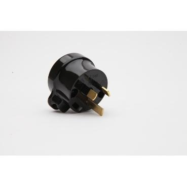 PDL - Tapon - PDL940 Side Entry 3-Pin Rewirable Heavy Duty Tapon Plug; 10A, Black