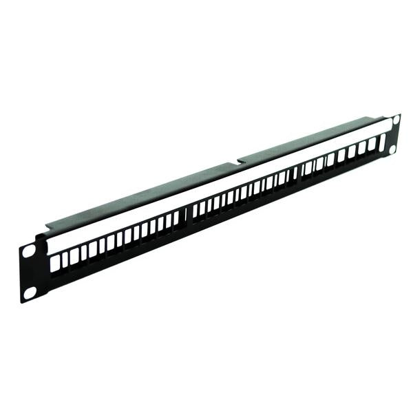 Penn Elcom - R1245/1UK - 1U Rack Panel for 24 x Keystone Snap-in Modules.