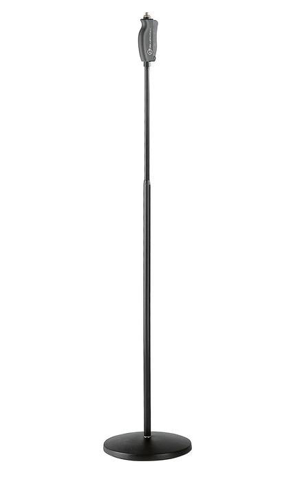 "K&M - 26085-300-55 - Mic Stand - Round Base - Straight - One Handed ""Soft Touch""."