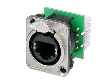 Neutrik - NE8FDV-YK - Panel mount receptacle with IDC punch down terminals