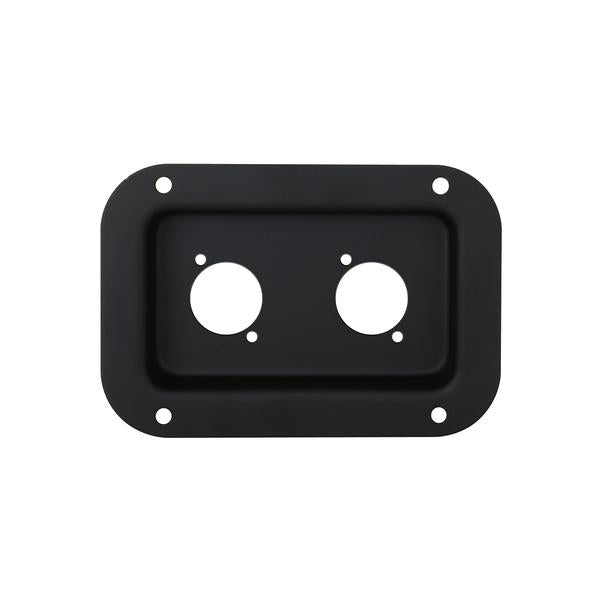 Penn Elcom - D0604K - Dish Punched for 2 x D-Series Connectors - Black