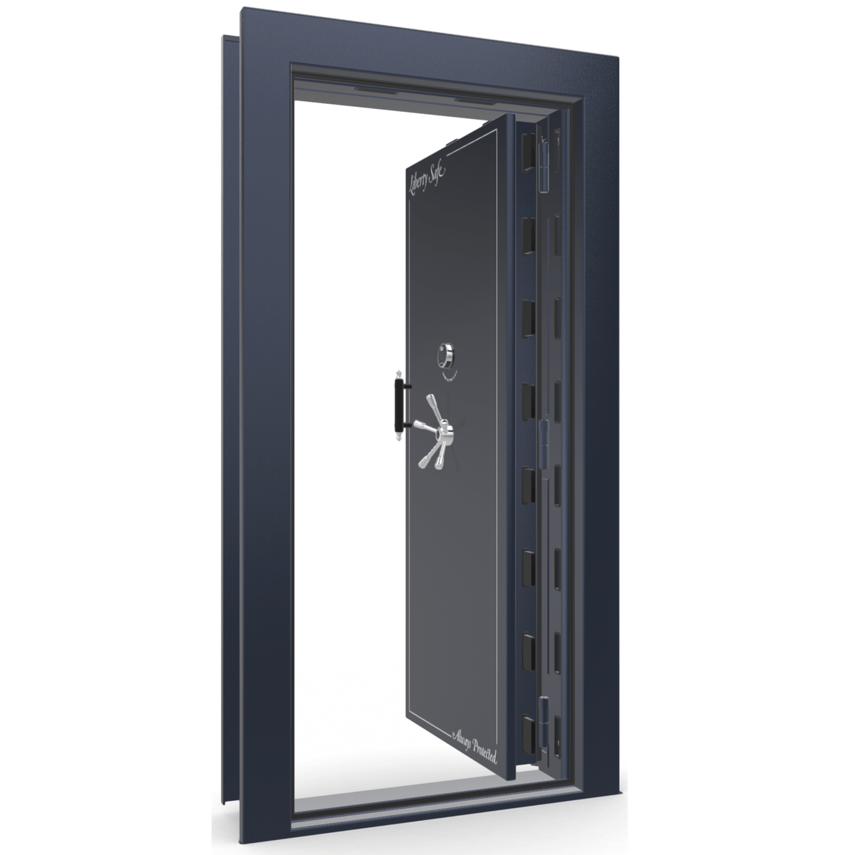 Vault Door Series | In-Swing | Left Hinge | Blue Gloss | Electronic Lock