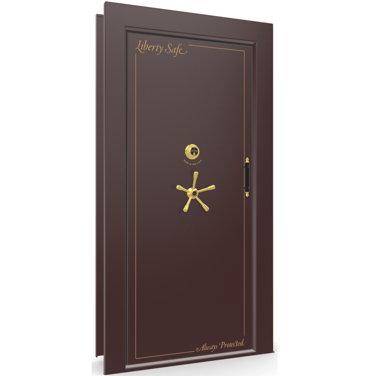 Vault Door Series | Out-Swing | Right Hinge | Burgundy Marble | Mechanical Lock