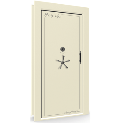 Vault Door Series | Out-Swing | Right Hinge | Black Gloss | Mechanical Lock