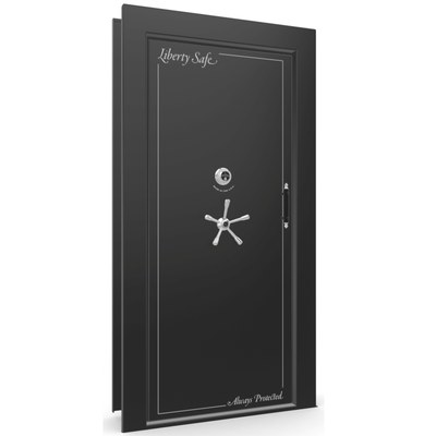 Vault Door Series | Out-Swing | Right Hinge | Blue Gloss | Mechanical Lock