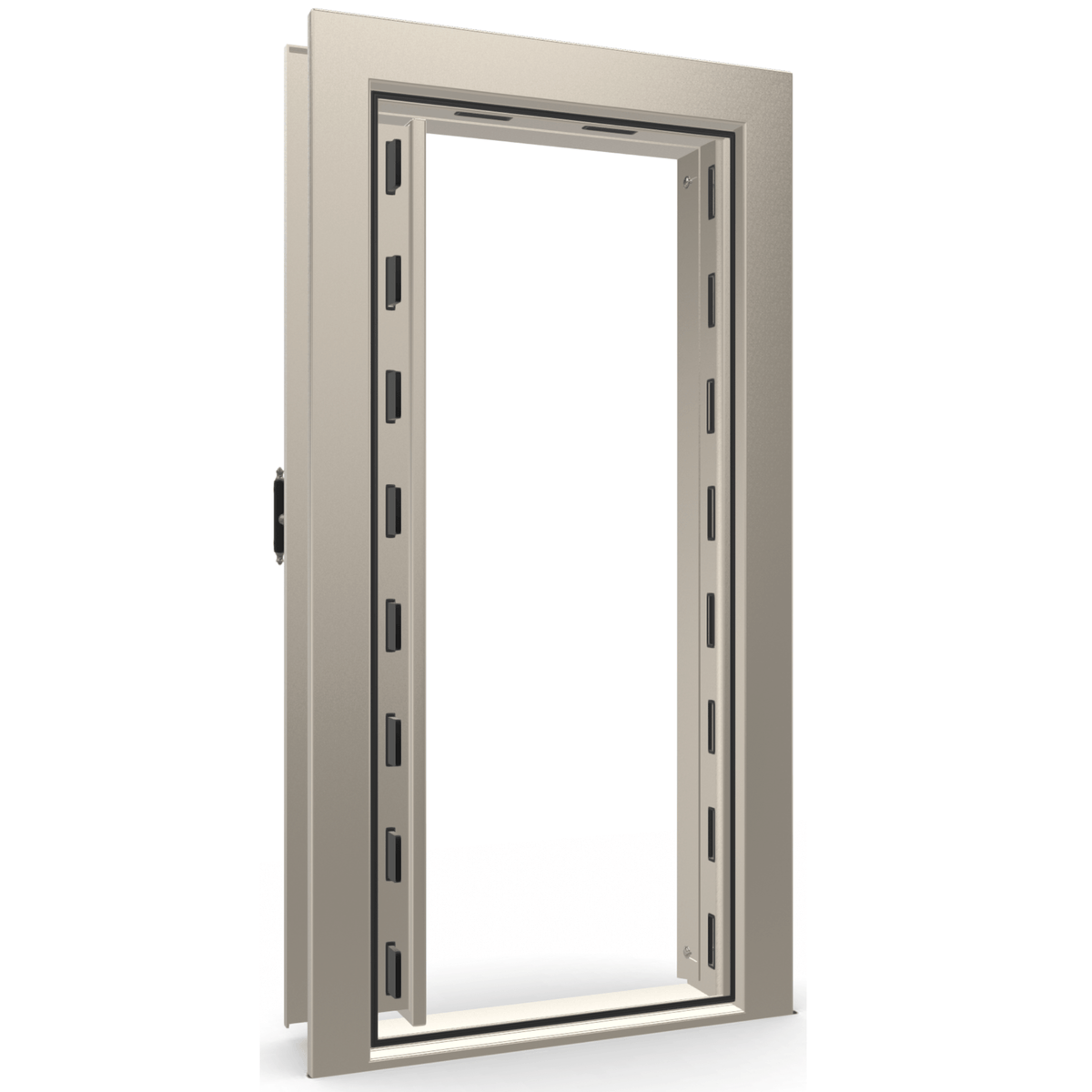 Vault Door Series | Out-Swing | Left Hinge | White Marble | Electronic Lock