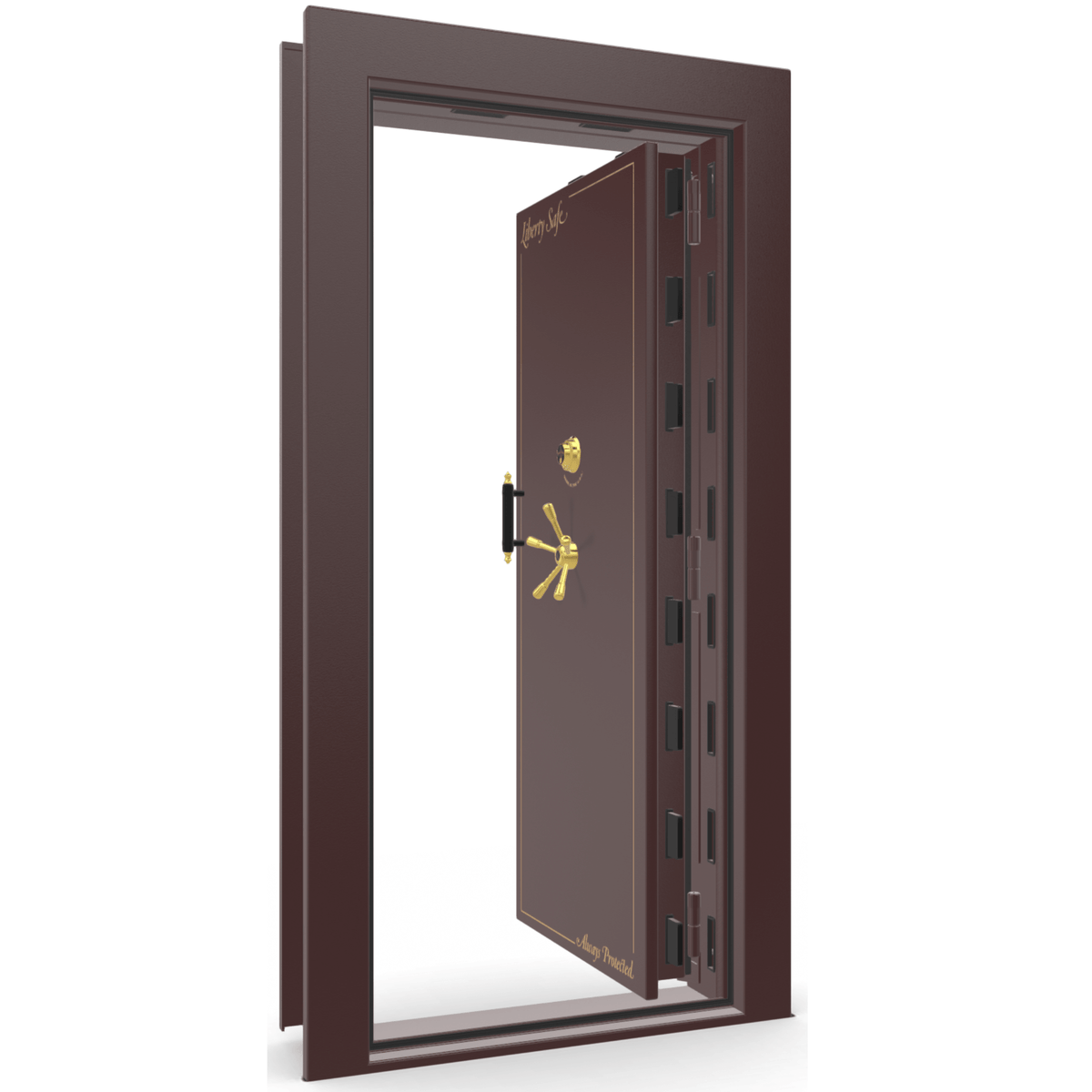 Vault Door Series | In-Swing | Right Hinge | Burgundy Marble | Electronic Lock
