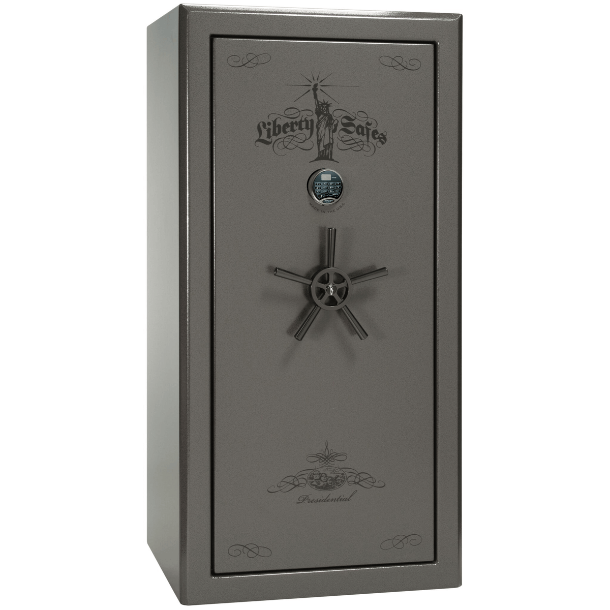 "Presidential Series | Level 8 Security | 2.5 Hours Fire Protection | 25 | Dimensions: 60.5""(H) x 30""(W) x 28.5""(D) 