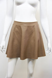 Faux Leather Skater Skirt - Ahri
