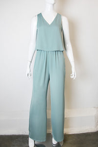 Simple V Neck Jumpsuit - Ahri