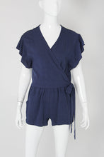 Load image into Gallery viewer, Washed Cotton Wrap Romper - Ahri