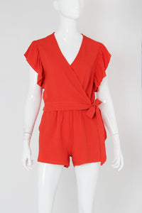 Washed Cotton Wrap Romper - Ahri