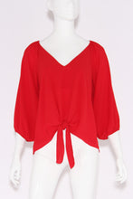 Load image into Gallery viewer, Relaxed 3/4 Sleeve Tie Top - Ahri