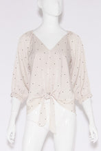 Load image into Gallery viewer, Relaxed Satin Polka Dot 3/4 Sleeve Top - Ahri