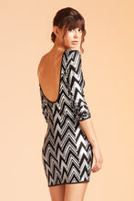 Load image into Gallery viewer, Zig Zag Backless Sequin Dress - Ahri