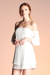 Delicate Off Shoulder Dress - Ahri