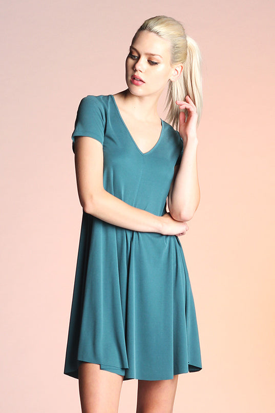 Ribbed Knit Skater Dress - Ahri