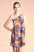 Load image into Gallery viewer, Abstract Tropical One Shoulder Dress - Ahri