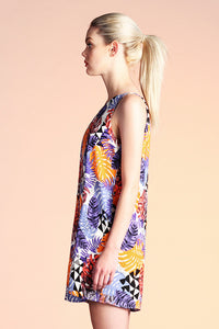 Abstract Tropical One Shoulder Dress - Ahri