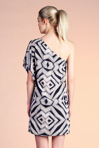 Diamond Medallion One Shoulder Dress