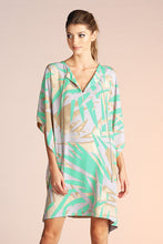 Load image into Gallery viewer, Abstract Palm Caftan Dress
