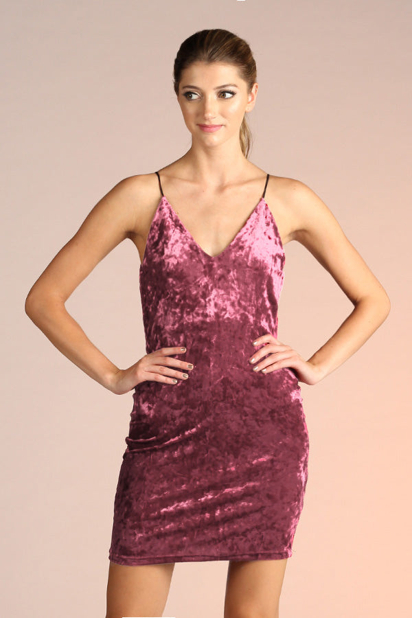 Velvet Crush Bandage Dress - Ahri