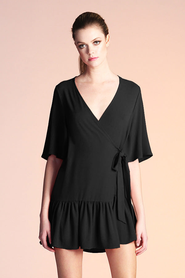 Side Wrap Mumu Dress - Ahri