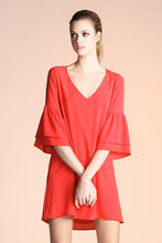 Load image into Gallery viewer, Ruffle Sleeve V-Neck Dress - Ahri